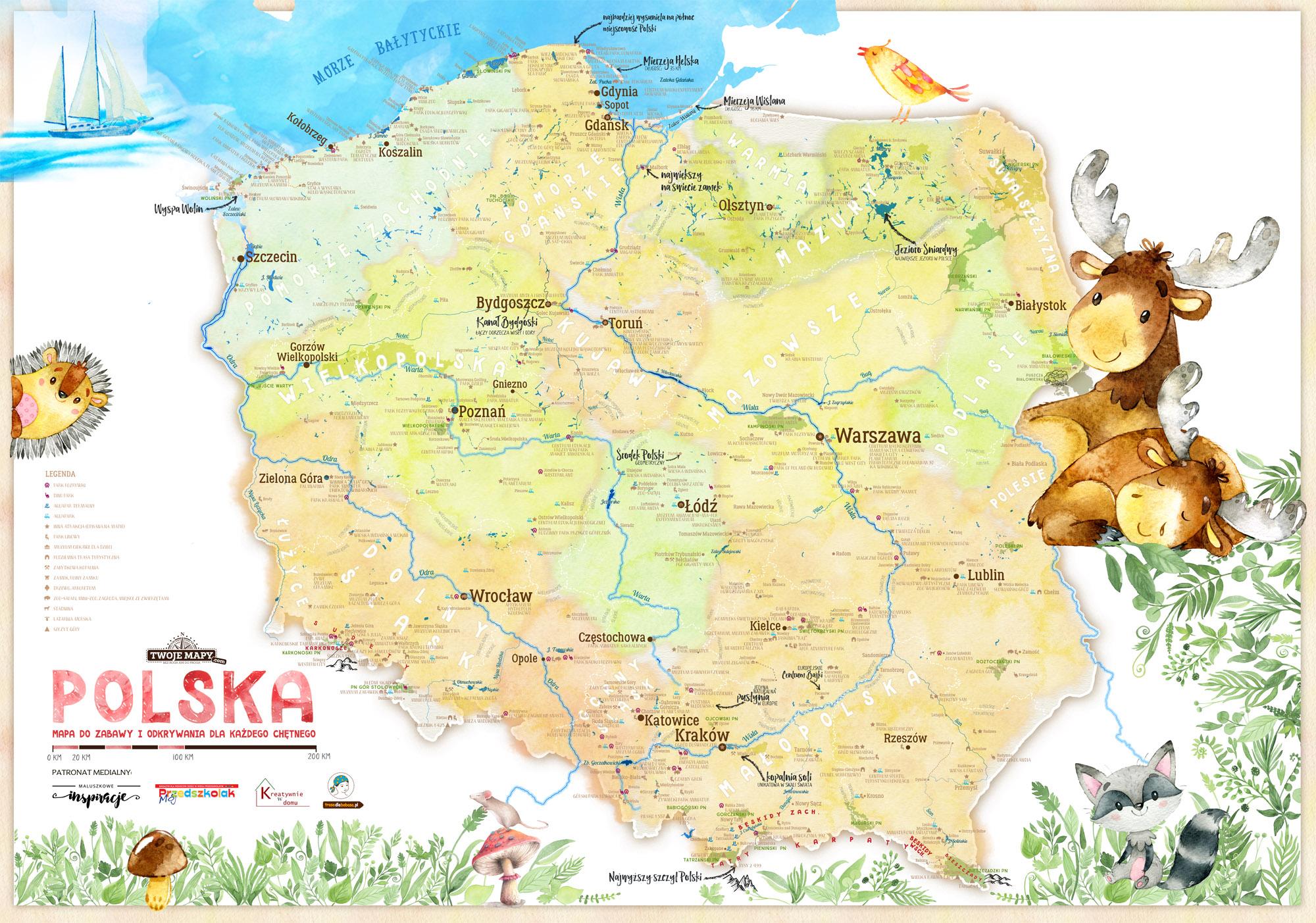 Bardzo dobryFantastyczny Mapa Polski dla dzieci Zestaw Edukacyjny - Kolekcje \ Geografia QJ45