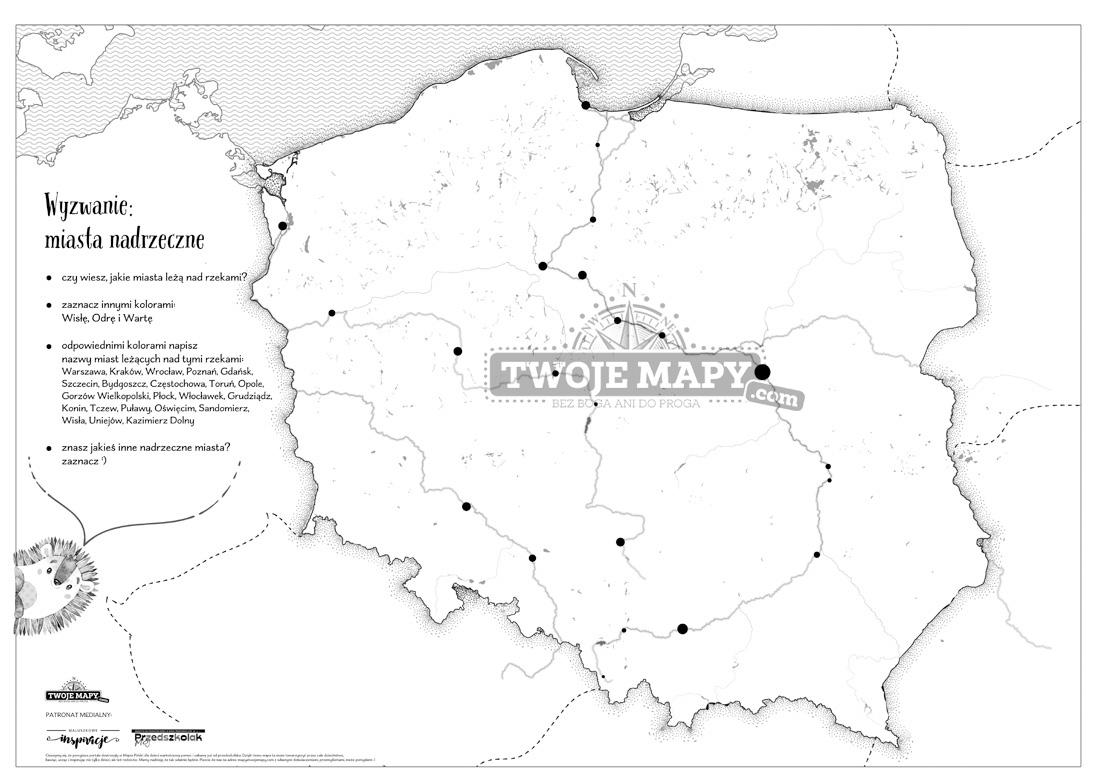 Mapa Polski Dla Dzieci Zestaw Edukacyjny