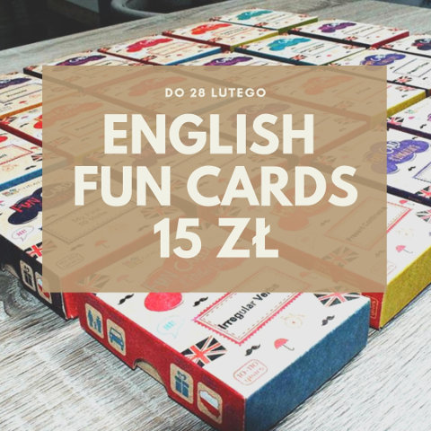 English Fun Cards Promocja