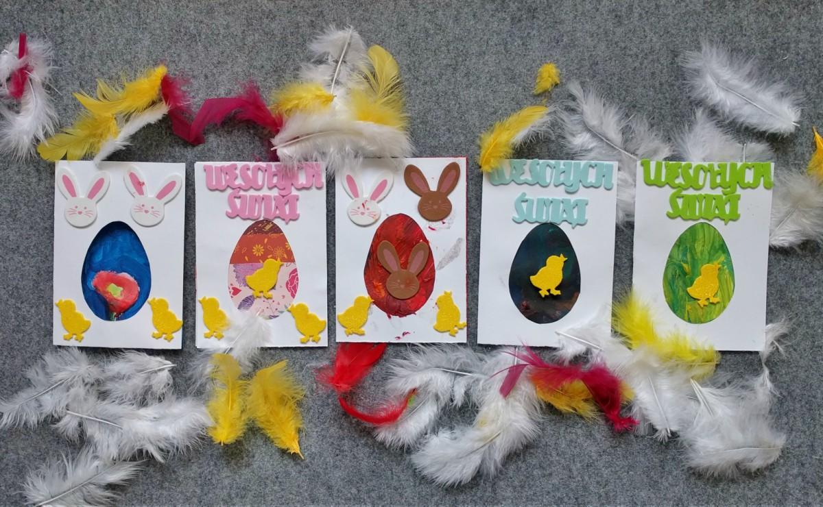 Kartki wielkanocne DIY dla dzieci