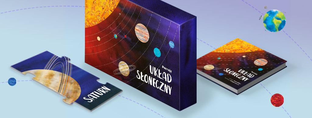 """Kosmiczne puzzle i książka dla dzieci """"Poznaję Układ Słoneczny"""""""