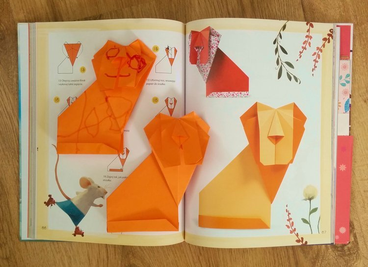 Bajki La Fontainea i ich bohaterowie w wersji origami