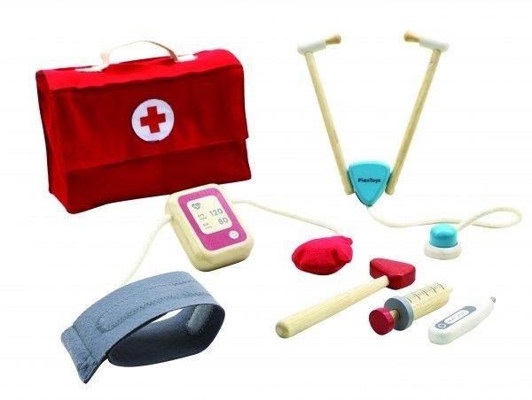 Drewniany zestaw lekarski, zabawa w doktora, Plan Toys®