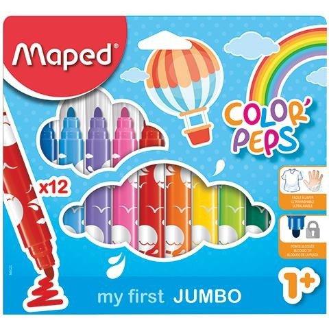 Flamastry Jumbo Colorpeps Early Age 12 szt