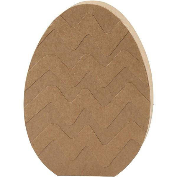 Jajko z papier-mache płaskie H: 18 cm