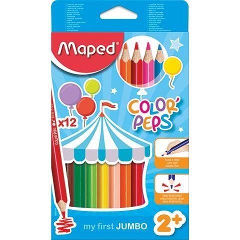 Kredki Jumbo Colorpeps Early Age Trójkątne 12 szt