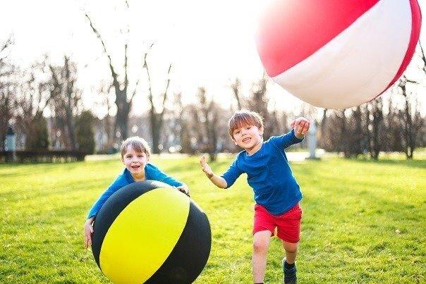 Magiczna Piłka balonowa XXL tęczowa