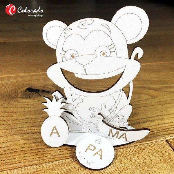 Małpka sylabowa do nauka czytania metodą sylabową
