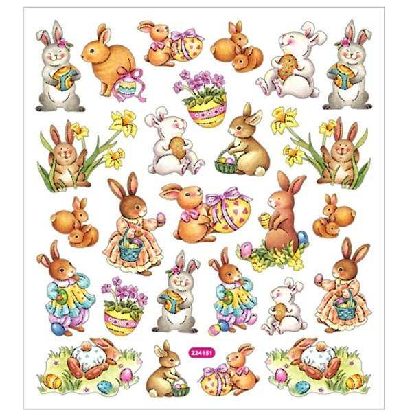 Naklejki Wielkanocne Zajączki