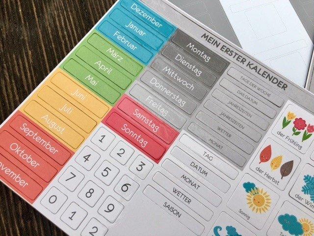 Piktogramy Do Kalendarza Przedszkolaka Niemiecki