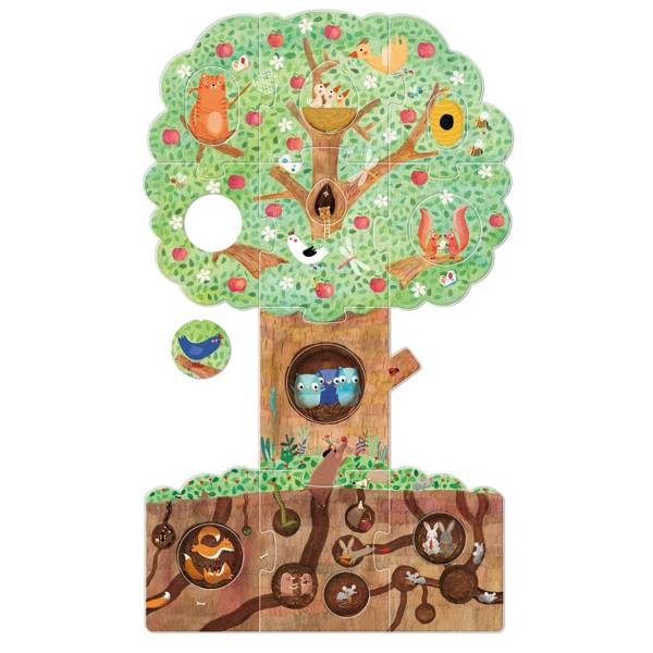 Puzzle dwustronne z dziurką - Moja Jabłoń | Londji®
