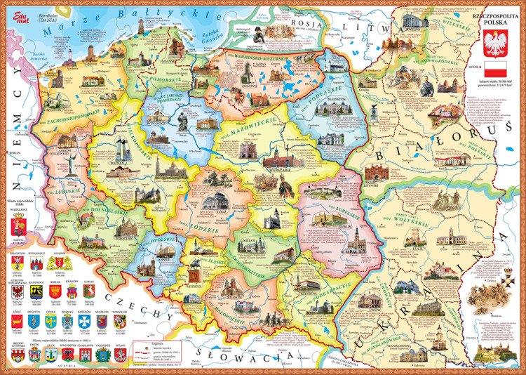 Plakat Mapa Polski Z Wojewodztw Pixers Zyjemy By Zmieniac