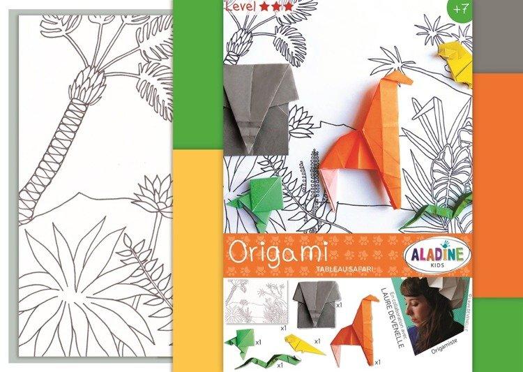 Scenka na Safari Origami
