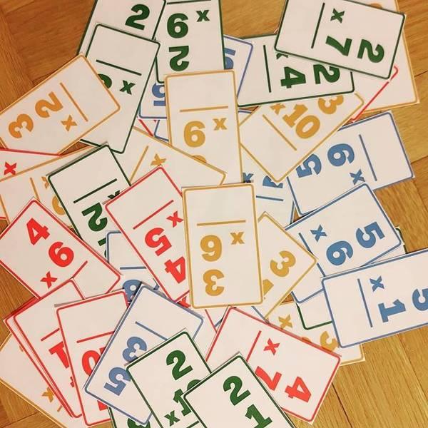 Tabliczka mnożenia - karty do gry