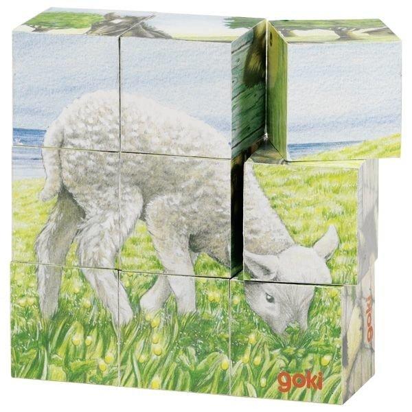 Puzzle sześcienne Zwierzęta gospodarskie