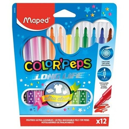 Flamastry Maped Colorpeps Long life 12 szt.