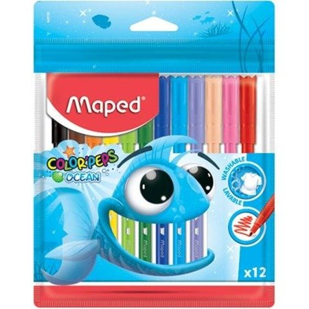 Flamastry Maped Colorpeps Ocean 12 szt. Zip Etui