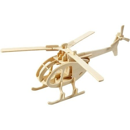 Puzzle 3D drewniane helikopter