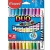 Flamastry Maped Colorpeps Duo Dwustronne 10 szt. 20 kolorów